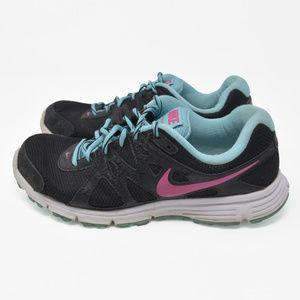 Nike Revolution 2 Sz 9.5 Black Running Hiking Shoe